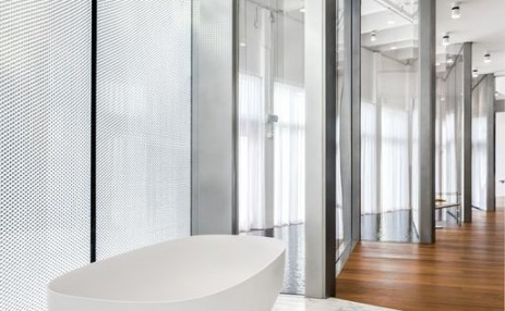 Monad Terrace - Tub and Honeycomb Facade - Sales Gallery